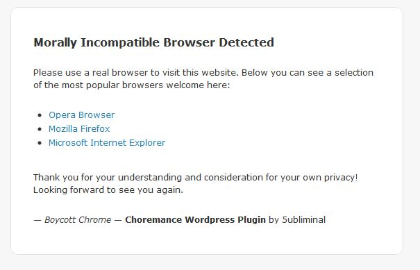Morally Incompatible Browser Detected - 5ubliminal