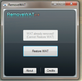 RemoverWAT Windows 7 RC Activation Patch
