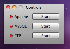 XAMPP Control Panel on Mac
